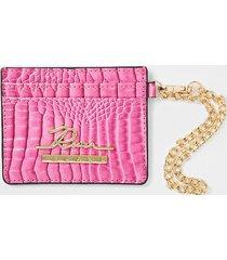 river island womens pink croc embossed card holder wallet