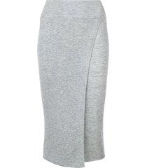 cashmere in love cashmere capri knit skirt - grey