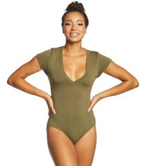 free people women's bodysuit me oh my - olive - x-small spandex