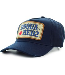dsquared2 d2 patch western navy blue baseball cap