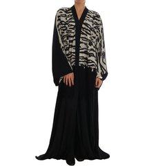 zebra kaftan abaya cape silk dress