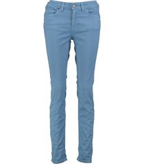amélie & amélie 7/8e slim fit twill jeans broek valt kleiner