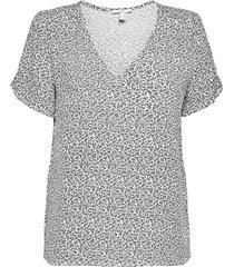 blouses woven blouses short-sleeved grå edc by esprit