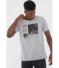 camiseta fiveblu nasa cinza