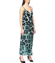 roberto cavalli dress roberto cavalli dress with silk braces with giraffe print