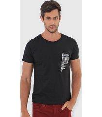 camiseta sergio k wake up preta - preto - masculino - algodã£o - dafiti