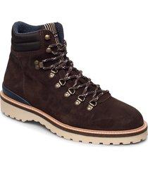 roden mid lace boot snörade stövlar brun gant