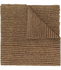 missoni cable knit lurex scarf - gold