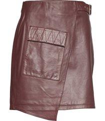alma kort kjol brun dagmar
