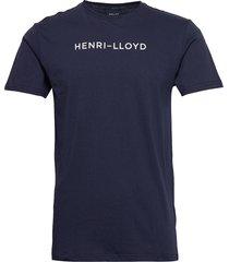 mav cotton tee t-shirts short-sleeved blå henri lloyd