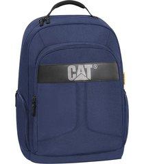 mochila azul caterpillar colegio