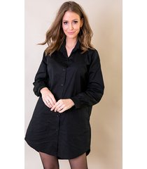 lange katoenen blouse zwart