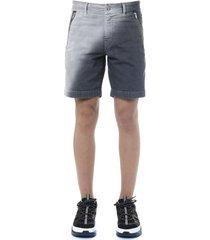 diesel grey cotton canvas shorts