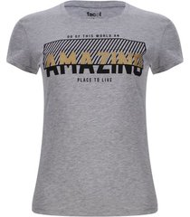 "camiseta ""amazing"" color gris, talla s"
