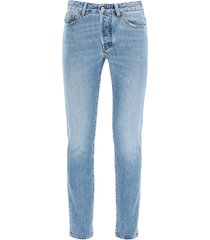 marcelo burlon slim jeans with fire cross print