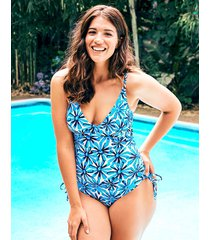 palermo floral underwire non padded shaping one-piece swimsuit