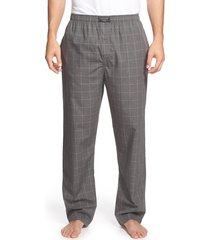 men's polo ralph lauren cotton pajama pants, size medium - grey