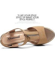 sandalias de tacón alto de malla negra para sandalias mujer