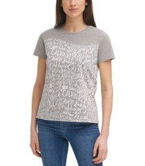 calvin klein logo-print t-shirt