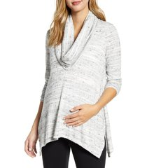 women's maternal america cowl neck maternity/nursing top, size x-small - grey