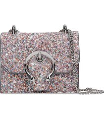 jimmy choo clutch in multicolor leather