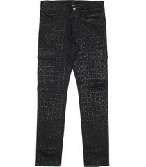 1017 alyx 9sm black cargo logo denim pants