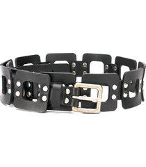 alberta ferretti square link belt - black