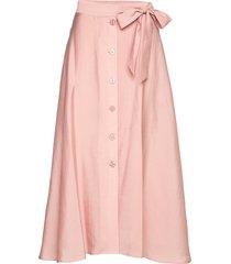 ena p skirt 11465 knälång kjol rosa samsøe samsøe