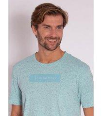 camiseta aleatory estampada logo box - masculina - masculino
