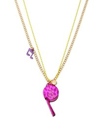 betsey johnson whistle pendant long necklace