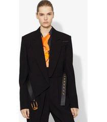 proenza schouler cropped belted blazer black 4