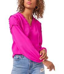 1.state ruffled-trim blouse