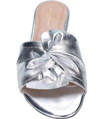 sandalia lazo plata julia