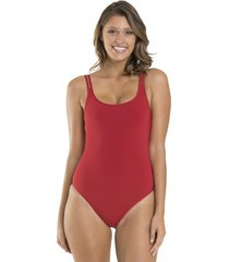 jets by jessika allen double strap swimsuit chilli