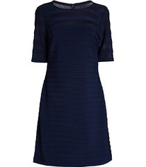 pintucked a-line dress