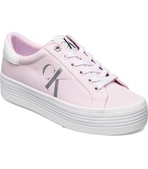 vulcanized flatform laceup ny sneakers skor rosa calvin klein