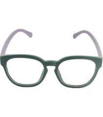 armação óculos de grau khatto purple green feminino