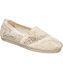 natural moroccan crochet sandaletter expadrilles låga creme toms