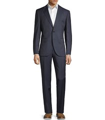 johnstons & lenon classic-fit checker virgin wool suit