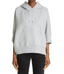 women's sacai sponge hoodie, size 2 - grey