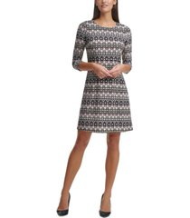 tommy hilfiger printed jersey fit & flare dress