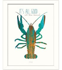 """trendy decor 4u it's all good at the beach by marla rae, printed wall art, ready to hang, white frame, 14"""" x 18"""""""