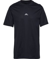 jordan bridge t-shirt cotton t-shirts short-sleeved blauw j. lindeberg