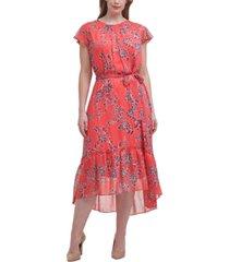 jessica howard plus size floral-print a-line midi dress
