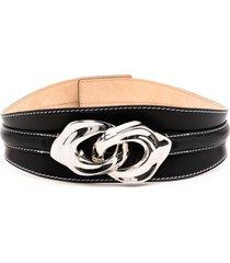 alexander mcqueen sculptural-link waist belt - black