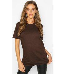 basic oversized boyfriend t-shirt, chocolate