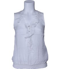 dept zomerblouse - whisper white