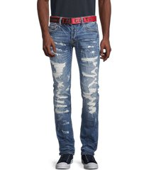 cult of individuality men's slim greaser straight-fit jeans - razor - size 30