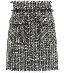 msgm tweed mini skirt