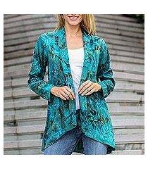 rayon batik jacket, 'kenanga' (indonesia)